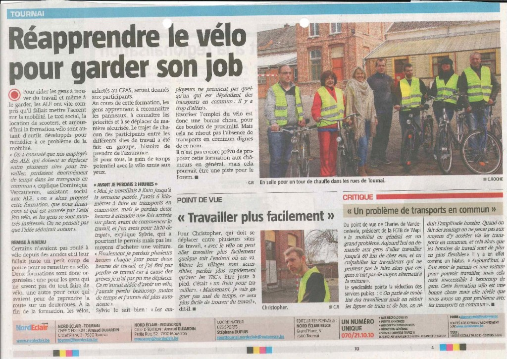 article formation vélo